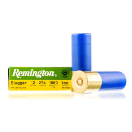Image For 5 Rounds Of 1 oz. Rifled Slug Shotshell 12 Gauge Remington Ammunition