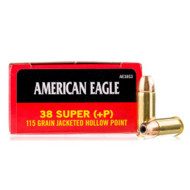 Image For 50 Rounds Of 115 Grain JHP Boxer Brass 38 Super Federal Ammunition