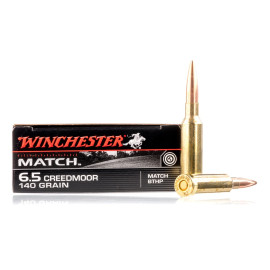 Image For 20 Rounds Of 140 Grain HPBT Boxer Brass 6.5 Creedmoor Winchester Ammunition