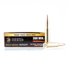 Image For 20 Rounds Of 185 Grain OTM Boxer Brass 308 Win Federal Ammunition