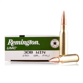 Image For 20 Rounds Of 150 Grain MC Boxer Brass 308 Win Remington Ammunition