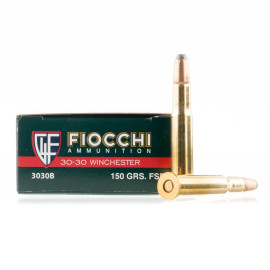 Image For 20 Rounds Of 150 Grain PSP Boxer Brass 30-30 Fiocchi Ammunition