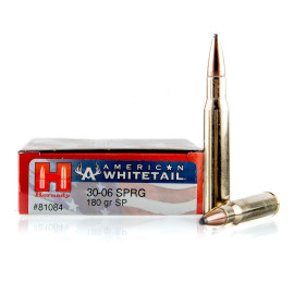 Image For 20 Rounds Of 180 Grain SP Boxer Brass 30-06 Hornady Ammunition