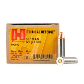Image For 25 Rounds Of 125 Grain JHP Boxer Nickel-Plated Brass 357 Magnum Hornady Ammunition