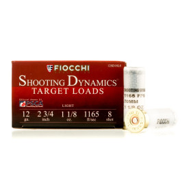 Image For 250 Rounds Of 1-1/8 oz. #8 Shot 12 Gauge Fiocchi Ammunition