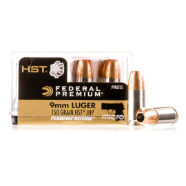 Image For 200 Rounds Of 150 Grain JHP Boxer Nickel-Plated Brass 9mm Federal Ammunition