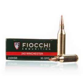 Image For 20 Rounds Of 95 Grain SST Boxer Brass 243 Win Fiocchi Ammunition