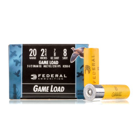 Image For 25 Rounds Of 7/8 oz. #8 Shot 20 Gauge Federal Ammunition
