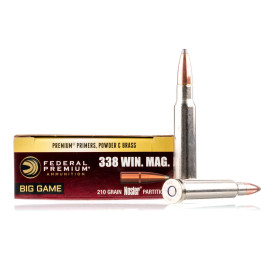Image For 20 Rounds Of 210 Grain Nosler Partition Boxer Nickel-Plated Brass 338 Win Mag Federal Ammunition