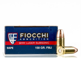 Image For 1000 Rounds Of 158 Grain FMJ Boxer Brass 9mm Fiocchi Ammunition