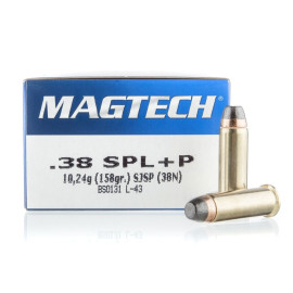 Image For 50 Rounds Of 158 Grain SJSP Boxer Nickel-Plated Brass 38 Special Magtech Ammunition