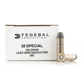 Image For 1000 Rounds Of 158 Grain LSWC Boxer Brass 38 Special Federal Ammunition
