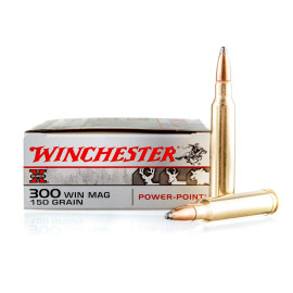 Image For 20 Rounds Of 150 Grain PP Boxer Brass 300 Win Mag Winchester Ammunition