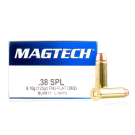 Image For 1000 Rounds Of 125 Grain FMJ-FN Boxer Brass 38 Special Magtech Ammunition