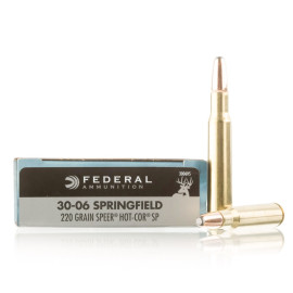 Image For 20 Rounds Of 220 Grain SP Boxer Brass 30-06 Federal Ammunition