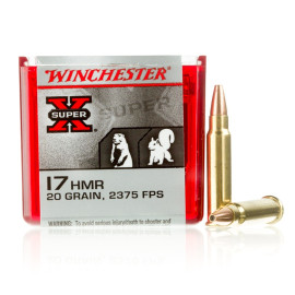 Image For 50 Rounds Of 20 Grain JHP Rimfire Brass 17 HMR Winchester Ammunition
