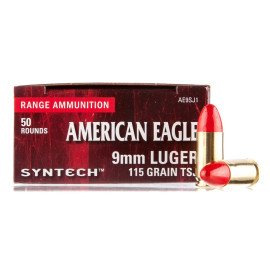 Image For 500 Rounds Of 115 Grain TSJ Boxer Brass 9mm Federal Ammunition