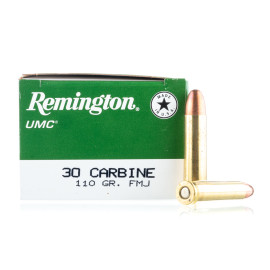 Image For 50 Rounds Of 110 Grain MC Boxer Brass 30 Carbine Remington Ammunition