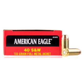 Image For 50 Rounds Of 155 Grain FMJ Boxer Brass 40 Cal Federal Ammunition