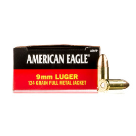 Image For 50 Rounds Of 124 Grain FMJ Boxer Brass 9mm Federal Ammunition