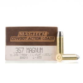 Image For 1000 Rounds Of 158 Grain LFN Boxer Brass 357 Magnum Magtech Ammunition