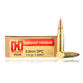 Image For 20 Rounds Of 110 Grain V-MAX Boxer Brass 6.8 SPC Hornady Ammunition