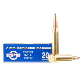 Image For 20 Rounds Of 140 Grain PSP Boxer Brass 7mm Rem Magnum Prvi Partizan Ammunition