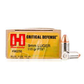 Image For 250 Rounds Of 115 Grain JHP Boxer Nickel-Plated Brass 9mm Hornady Ammunition