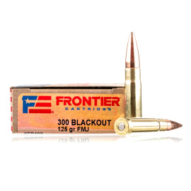 Image For 20 Rounds Of 125 Grain FMJ Boxer Brass 300 Blackout Hornady Ammunition