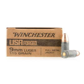 Image For 1000 Rounds Of 115 Grain FMJ Boxer Steel 9mm Winchester Ammunition