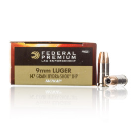 Image For 50 Rounds Of 147 Grain JHP Boxer Nickel-Plated Brass 9mm Federal Ammunition