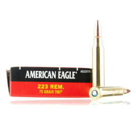 Image For 500 Rounds Of 75 Grain TMJ Boxer Brass 223 Rem Federal Ammunition