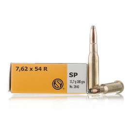 Image For 20 Rounds Of 180 Grain SP Boxer Brass 7.62x54r Sellier and Bellot Ammunition