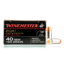 Image For 20 Rounds Of 165 Grain JHP Boxer Nickel-Plated Brass 40 Cal Winchester Ammunition