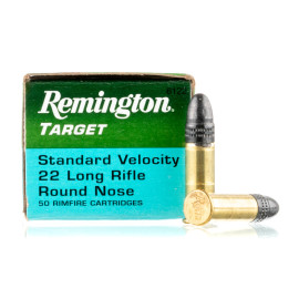 Image For 50 Rounds Of 40 Grain LRN Rimfire Brass 22 LR Remington Ammunition