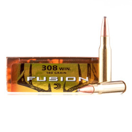 Image For 20 Rounds Of 180 Grain Fusion Boxer Brass 308 Win Federal Ammunition