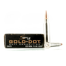 Image For 20 Rounds Of 75 Grain SP Boxer Nickel-Plated Brass 223 Rem Speer Ammunition