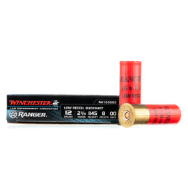 Image For 5 Rounds Of #00 Buck 12 Gauge Winchester Ammunition
