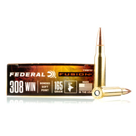 Image For 20 Rounds Of 165 Grain Fusion Boxer Brass 308 Win Federal Ammunition