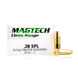 Image For 50 Rounds Of 158 Grain FEB Boxer Brass 38 Special Magtech Ammunition