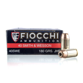 Image For 50 Rounds Of 180 Grain JHP Boxer Brass 40 Cal Fiocchi Ammunition