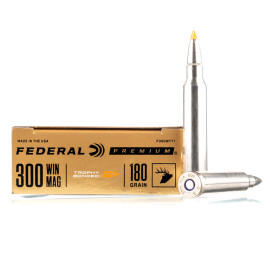 Image For 20 Rounds Of 180 Grain Trophy Bonded Tip Boxer Nickel-Plated Brass 300 Win Mag Federal Ammunition