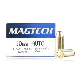 Image For 1000 Rounds Of 180 Grain FMJ Boxer Brass 10mm Magtech Ammunition