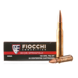 Image For 200 Rounds Of 150 Grain FMJ-BT Boxer Brass 30-06 Fiocchi Ammunition