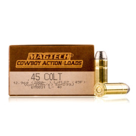 Image For 50 Rounds Of 200 Grain LFN Boxer Brass 45 Long Colt Magtech Ammunition