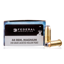 Image For 20 Rounds Of 240 Grain JHP Boxer Brass 44 Magnum Federal Ammunition