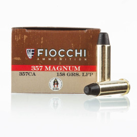 Image For 50 Rounds Of 158 Grain LFN Boxer Brass 357 Magnum Fiocchi Ammunition