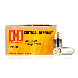 Image For 20 Rounds Of 165 Grain JHP Boxer Nickel-Plated Brass 40 Cal Hornady Ammunition