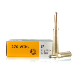 Image For 20 Rounds Of 150 Grain SP Boxer Brass 270 Win Sellier and Bellot Ammunition