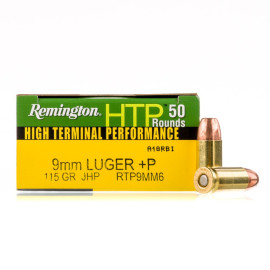 Image For 50 Rounds Of 115 Grain JHP Boxer Brass 9mm Remington Ammunition